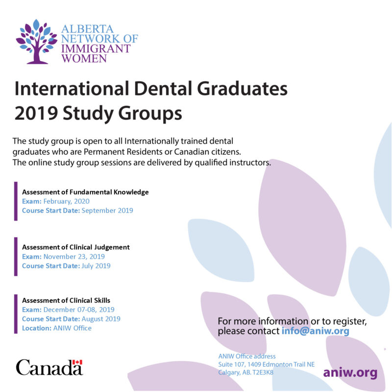 International Dental Graduates 2019 Study Groups